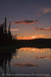 Beaver Creek Yukon Summer Night