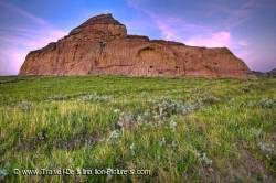 Castle Butte Badlands Landscape Saskatchewan Canada