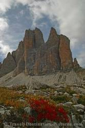 Three Chimes Dolomites Italy