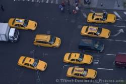 Picture Of New York City Taxi Cabs