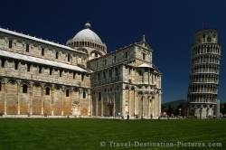 Cathedral And Leaning Tower Of Pisa Tuscany Italy