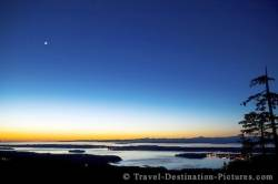 Picture Of Vancouver Island Dusk BC Canada