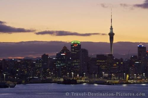 Picture Auckland City Dusk New Zealand