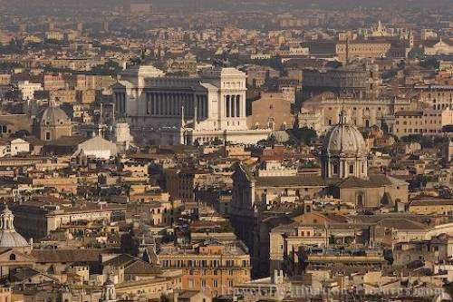 pictures of rome city. Aerial view of the City of Rome from the St Peter's Cathedral in Vatican