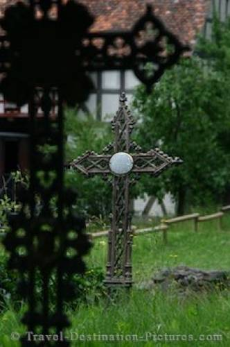 Graveyard Cross Hessenpark Germany
