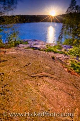 Sunset George Lake Killarney Provincial Park Ontario