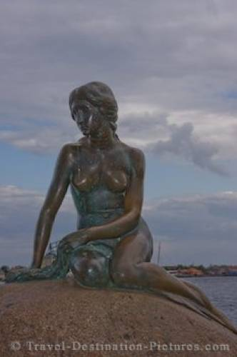 Little Mermaid Statue Copenhagen Tourist Attraction Denmark