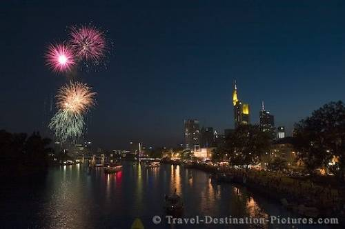 Main River Germany Fireworks