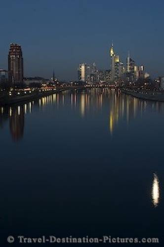 Main River Reflections Frankfurt