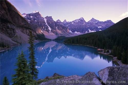 Moraine Lake in Banff National Park, Valley of Ten Peaks near Lake Louise,