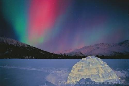 Northern Lights Igloo Brooks Range Alaska
