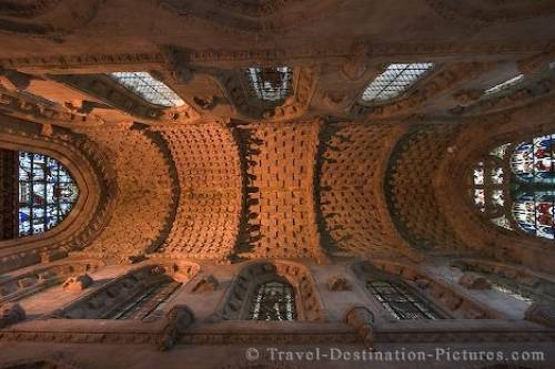 Rosslyn Chapel Interior Ceiling Roslin Scotland
