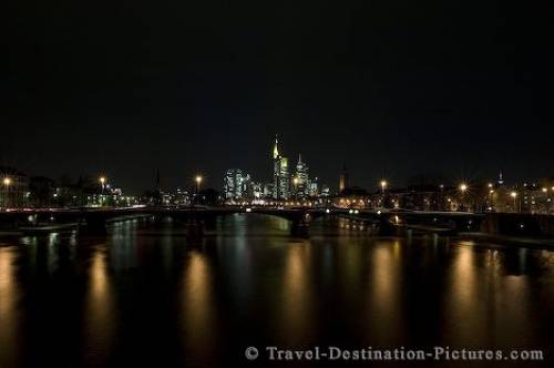 Skyline Of Frankfurt City Germany Europe