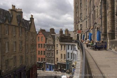 Street Impression Edinburgh Scotland