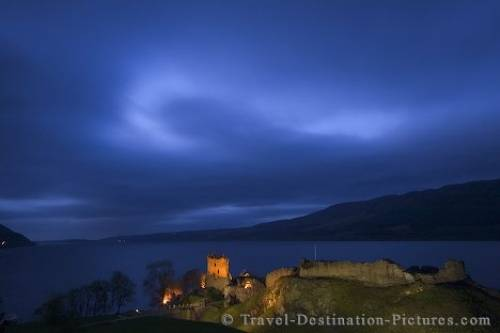Urquhart Castle At Night Urquhart castle night