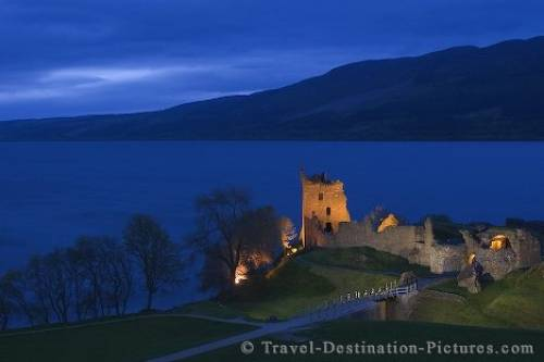 Urquhart Castle At Night Urquhart castle scotland