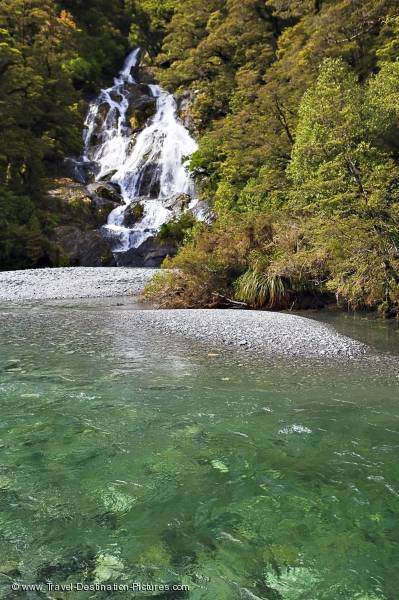 Fantail Falls Mt Aspiring National Park NZ