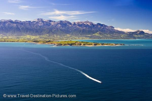 Kaikoura Coast Aerial Picture New Zealand