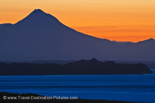 Mount Taranaki Sunset West Coast North Island New Zealand